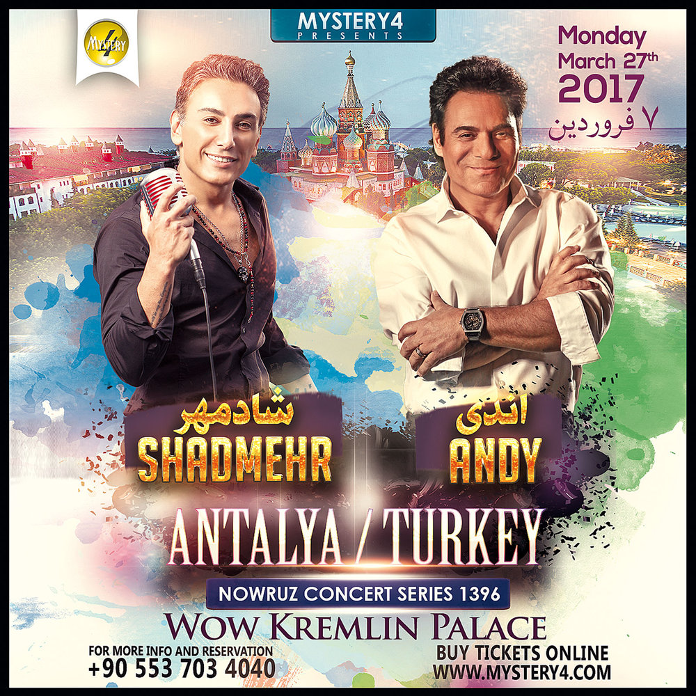 Shadmehr & Andy Live in Antalya - PersianEvents