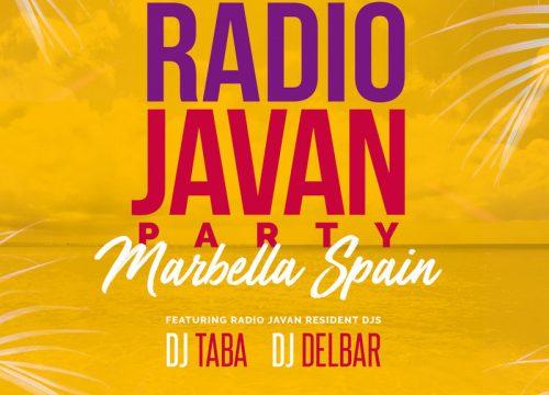 Radio Javan Party in Marbella Spain