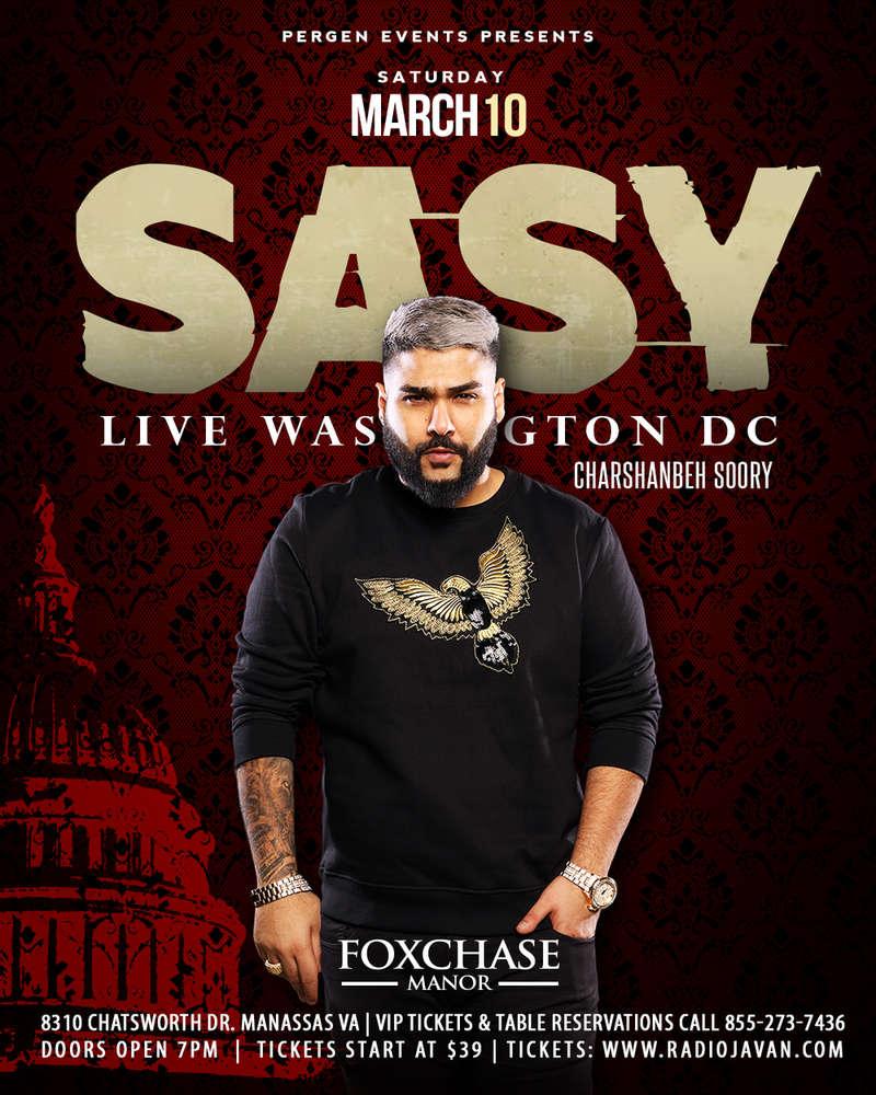Sasy Live in Washington, DC - PersianEvents