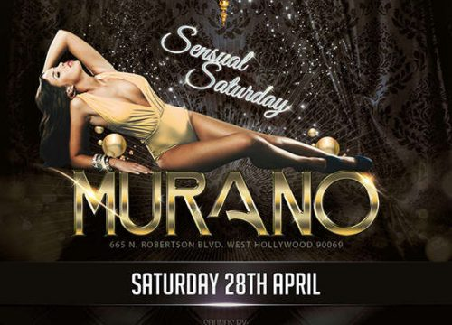 Saturday, April 28th in Los Angeles at MURANO Nightclub