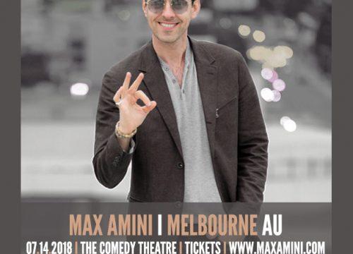 Max Amini Live in Melbourne