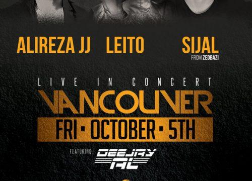 Alireza JJ, Leito, Sijal Live In Vancouver