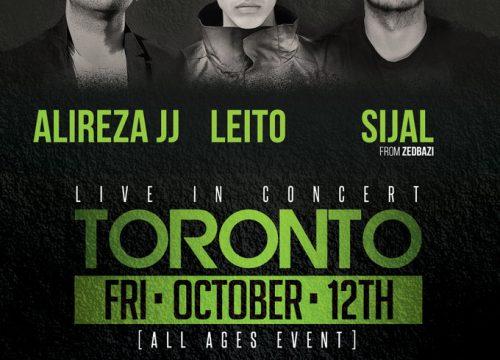 Alireza JJ, Leito, Sijal Live In Toronto