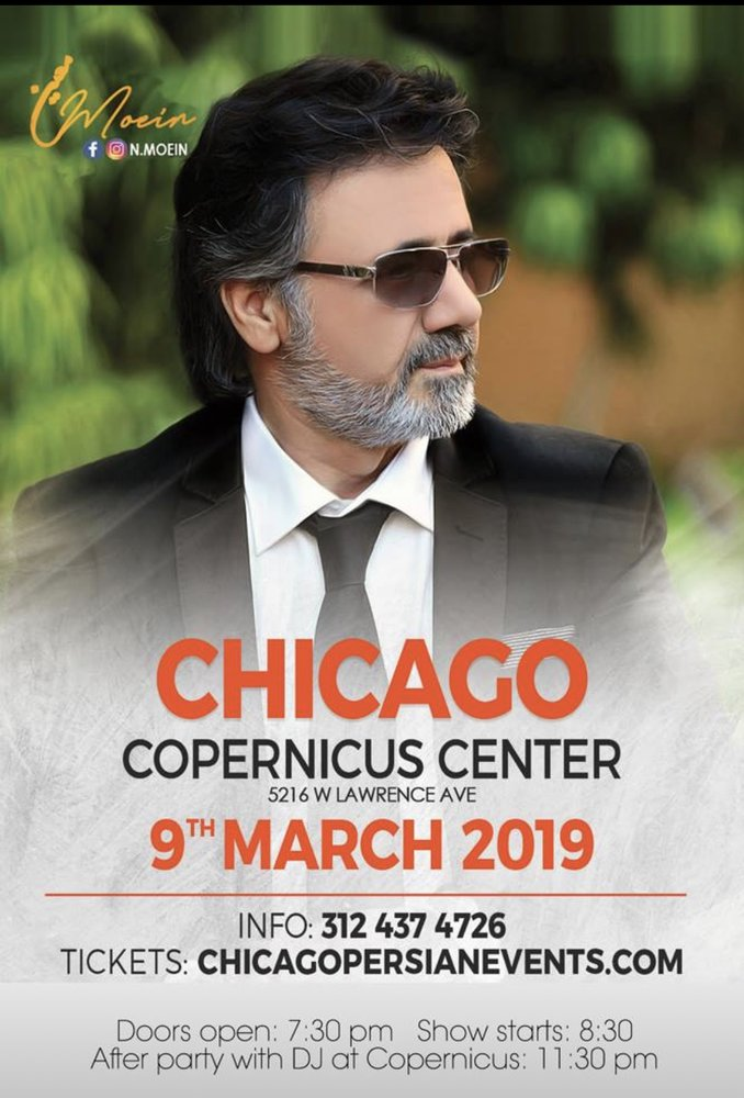 Moein Live In Chicago - PersianEvents